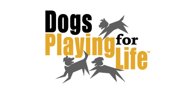 dogs playing for life logo